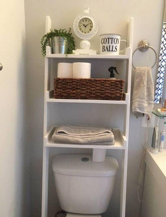 Coloca un mueble sobre el sanitario para toallas y papel - Muebles para sanitarios ...