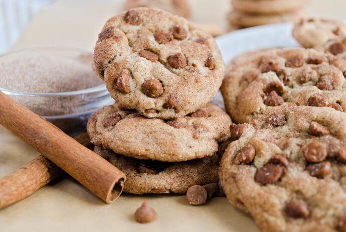 Cinnamon Chip Brown Sugar Cookies | Just Add Cinnamon! #cinnamonsugarcookies
