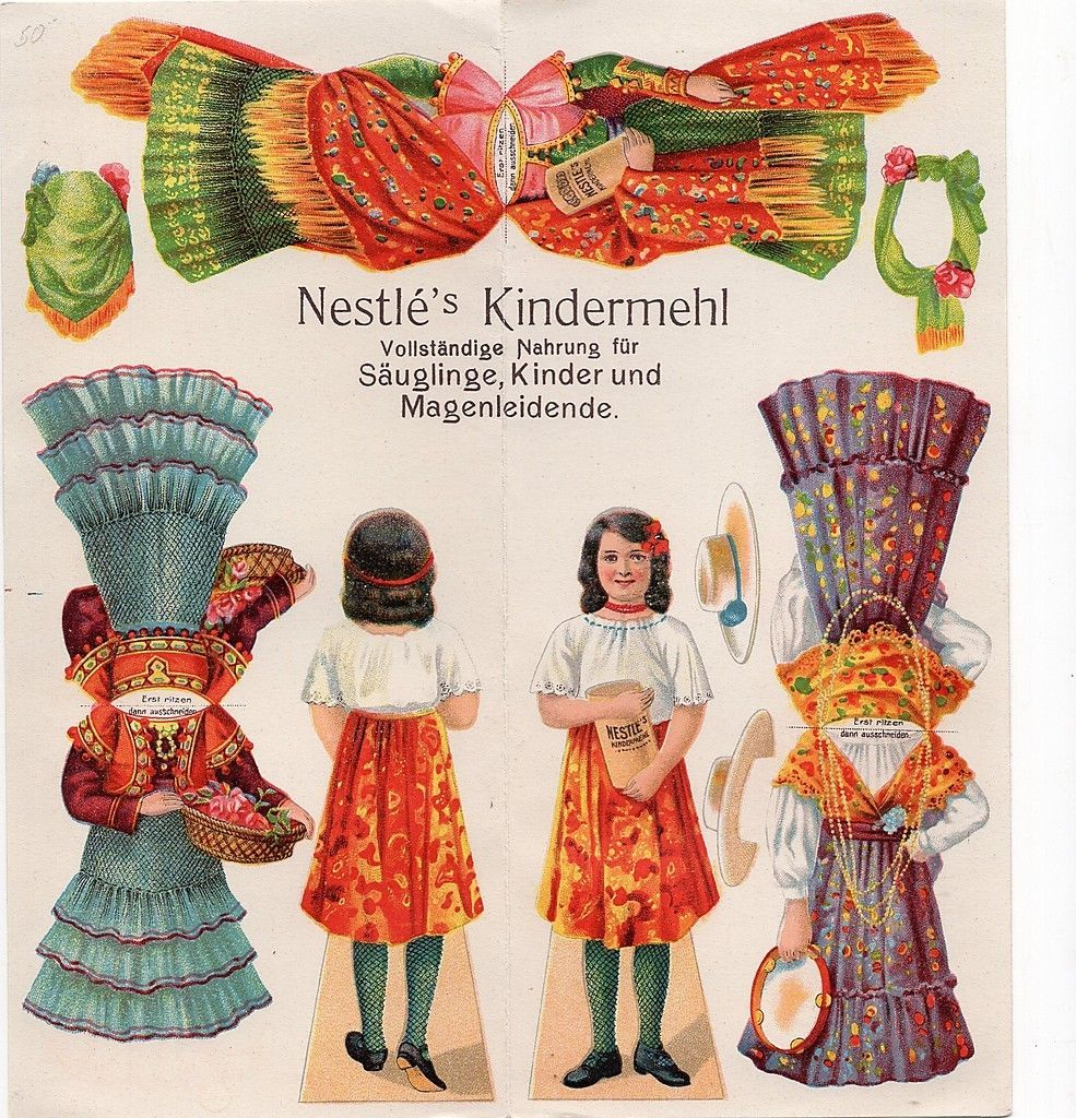 Paper Doll Folder Advertising Flyer Kindermehl | eBay