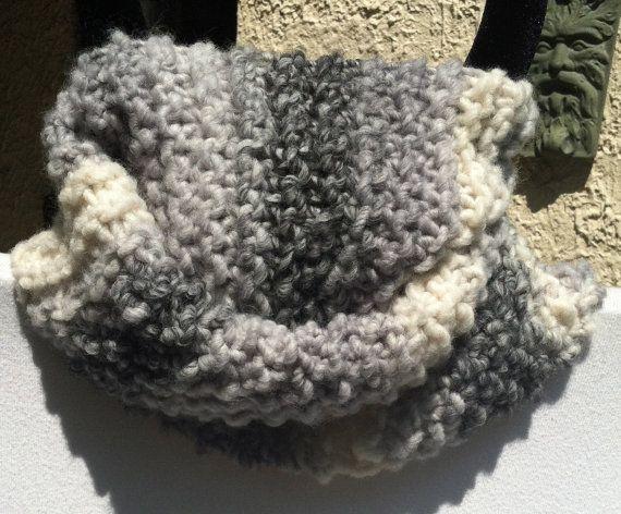 Hand Knit Scarf  CARRERA by BrownBagFarm on Etsy, $45.00