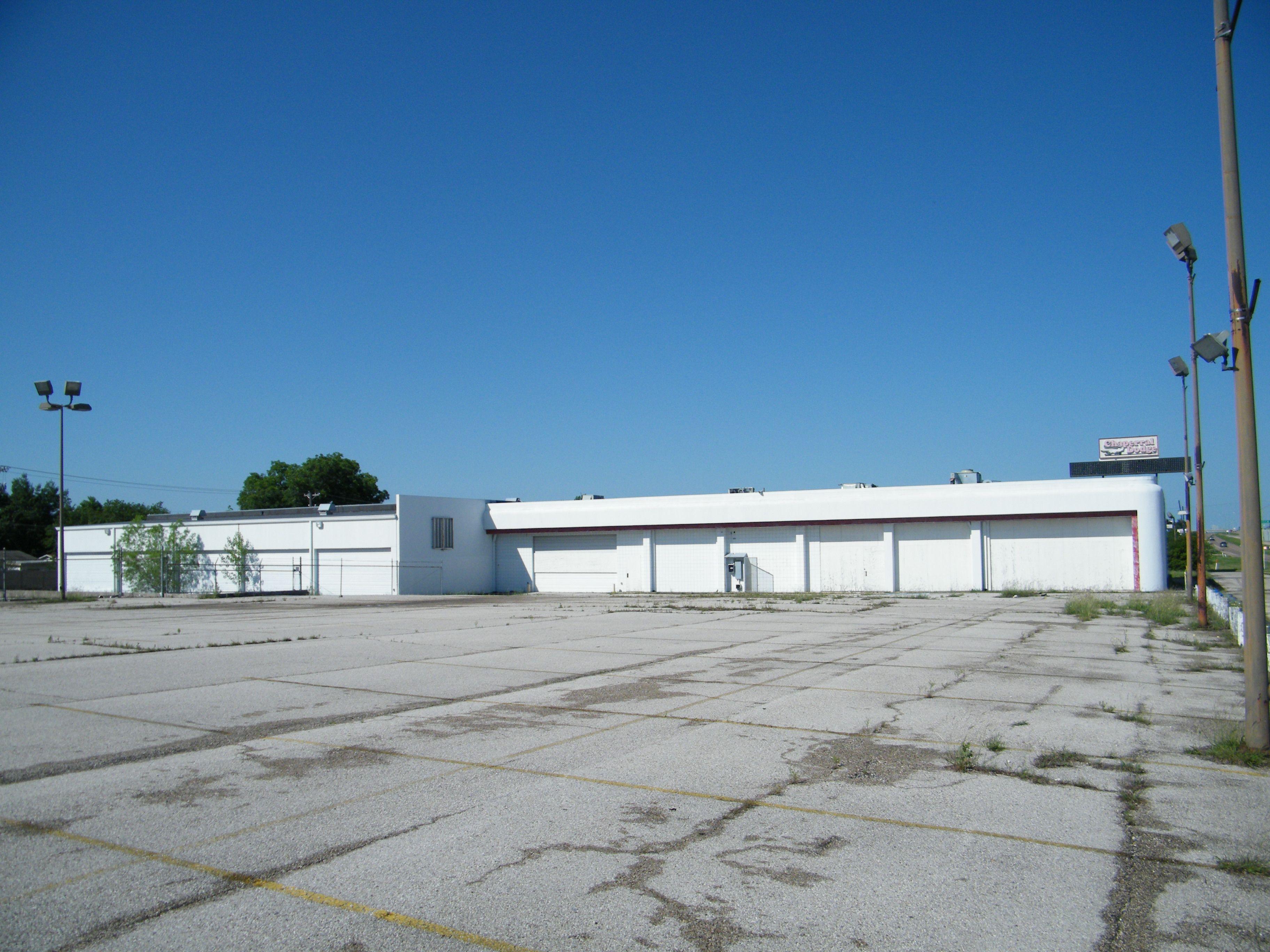 abandoned Dodge dealership outside Dallas TX