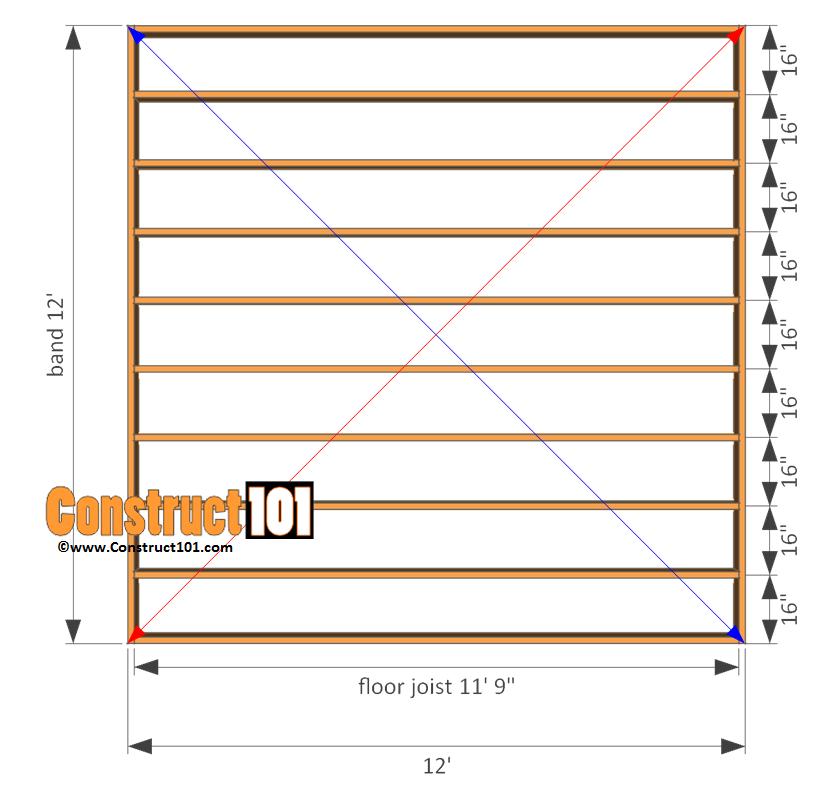 12x12 Shed Plans - Gable Shed | Pinterest | Floor framing ...