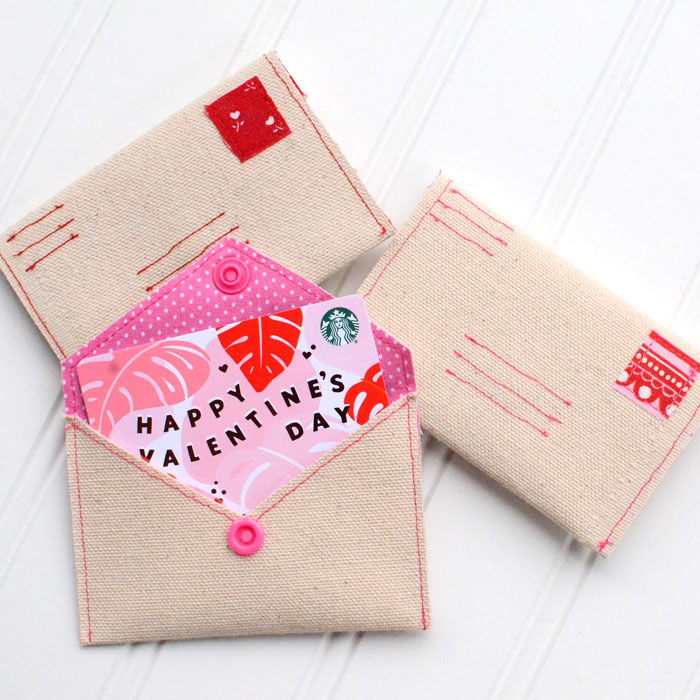 Love Letter DIY Gift Card Envelope Free Sewing Pattern