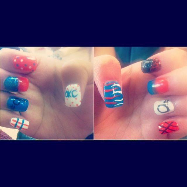 OKC Thunder nail designs! | Nails | Pinterest | Thunder ...