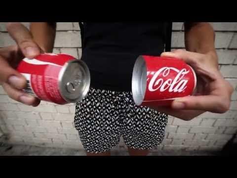 Coca Cola lata para compartir. La lata que se divide en dos - YouTube