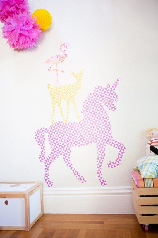 Budget DIY Kids Room Idea: Make Removable Animal Wall Decals This Little Street | Apartment Therapy