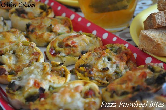 Meri Rasoi - By Saumya Mishra: Pizza Pinwheel Bites