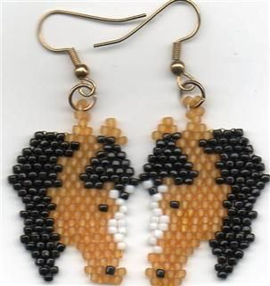 Beaded horse earings  MOM if you see this one if you could figure this one out for Kort.. :)