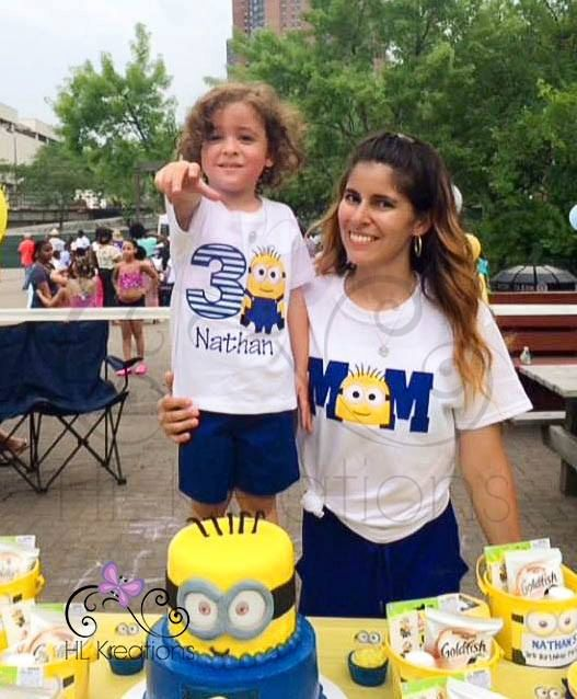Mom And Dad Minion Birthday Shirts Are A Perfect Way To Coordinate With Your Childs Upcoming Party Please Make Order Selection From The