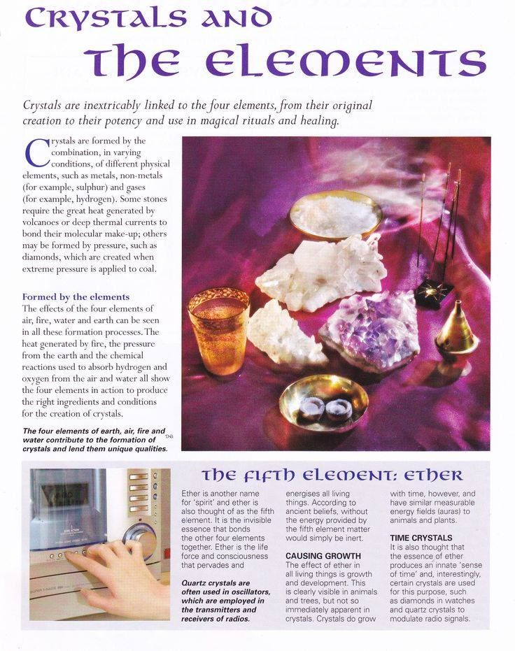 Mind, Body, Spirit Collection - Crystals And The Elements
