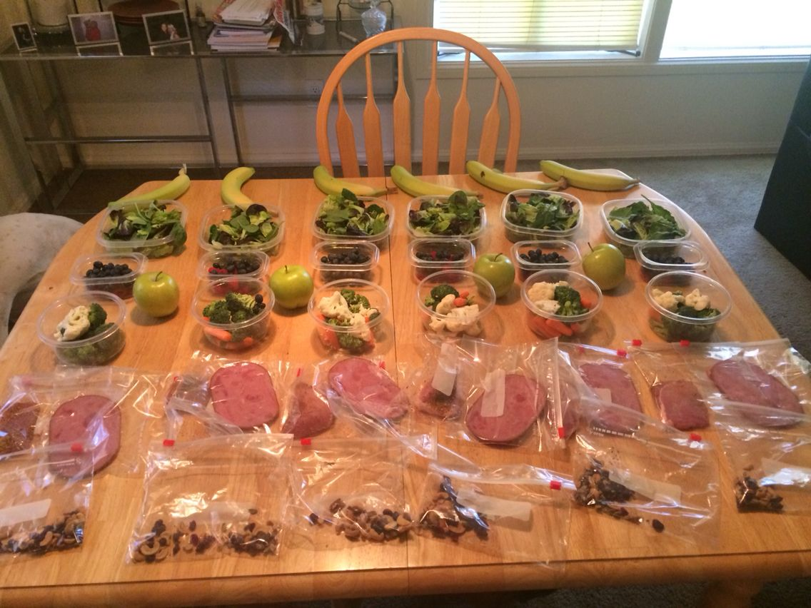 Food prepped for week 1