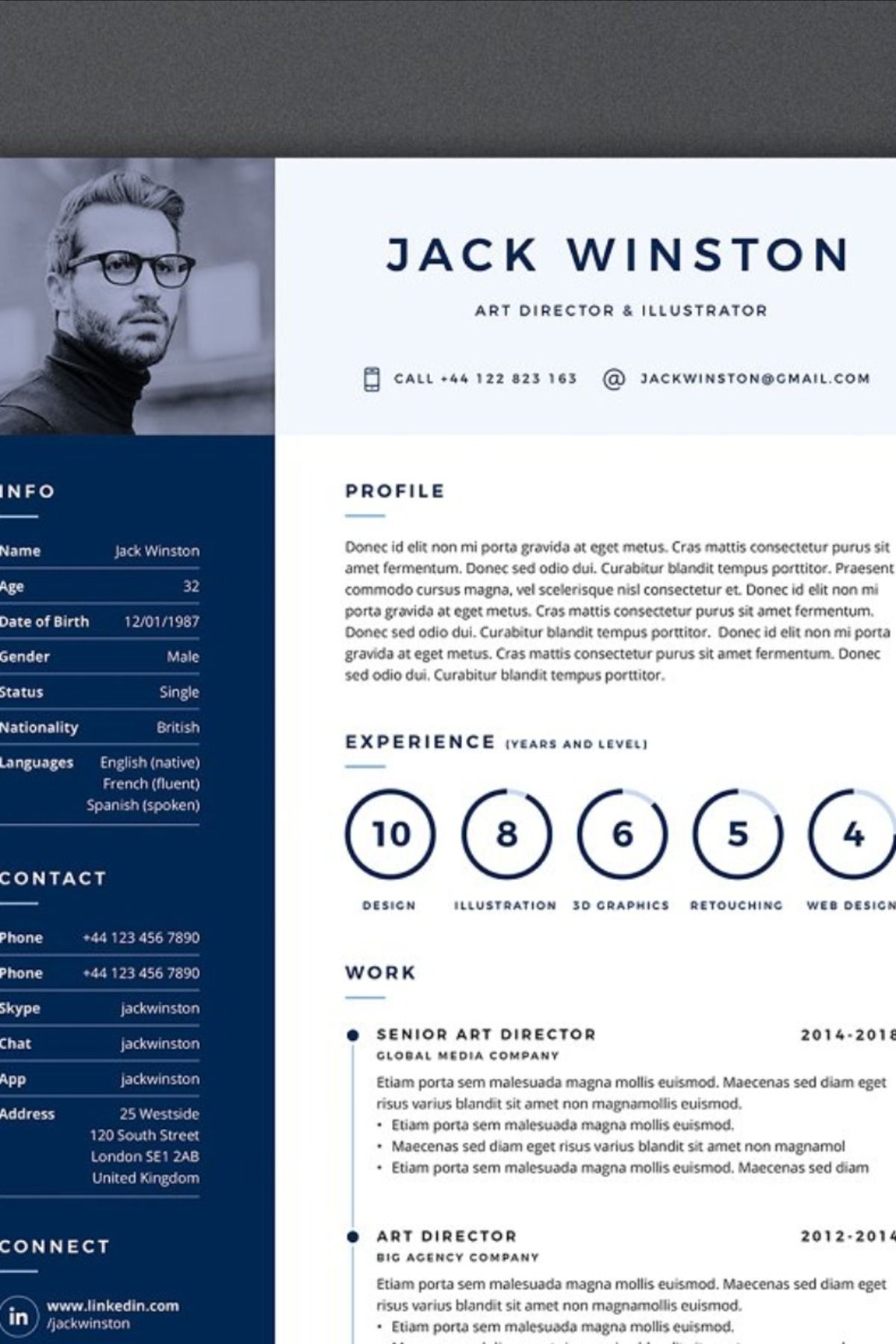PRO Resume 3 in 2020 Best resume template, Creative