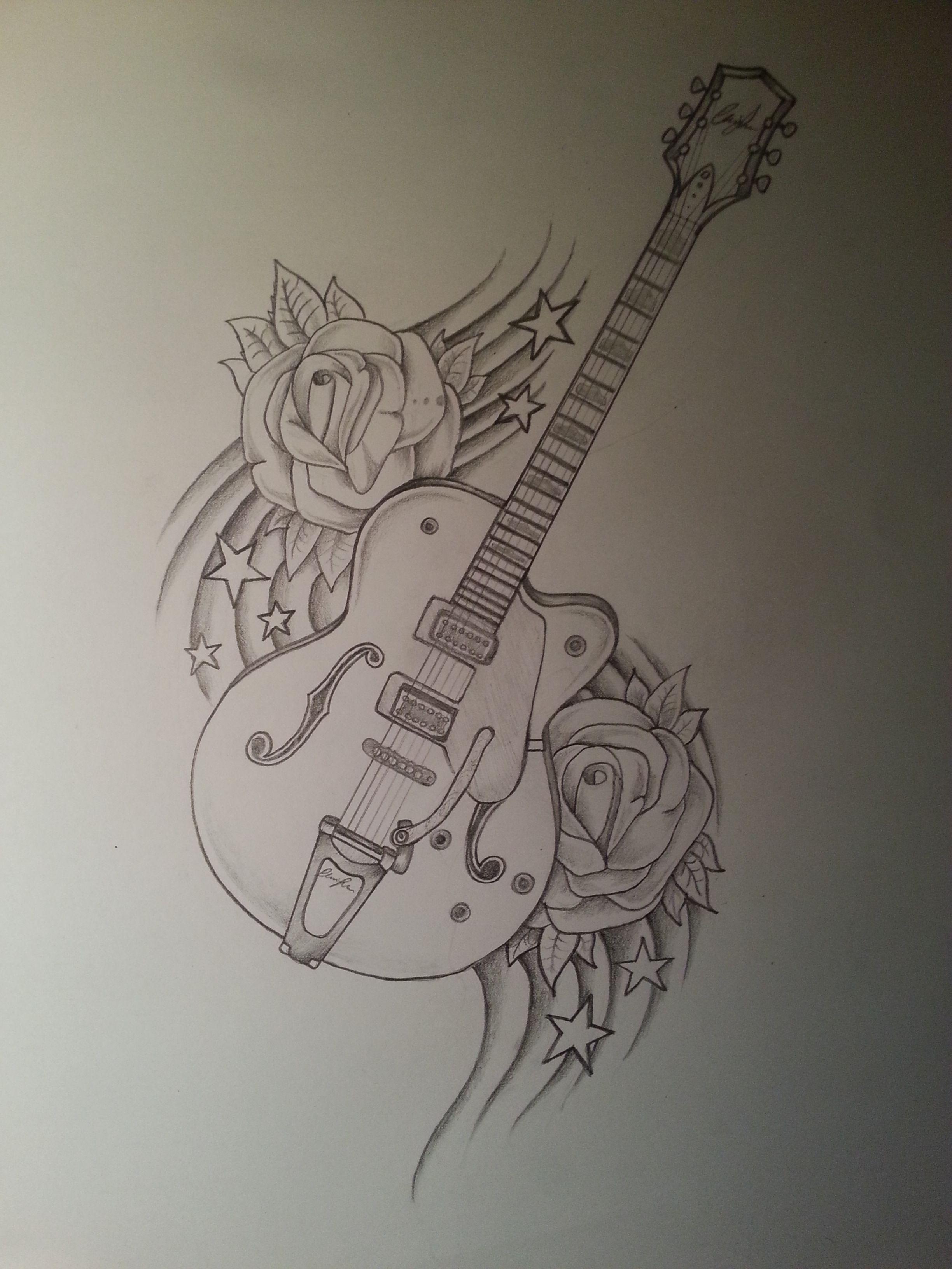 Guitar Drawing Drawings Music