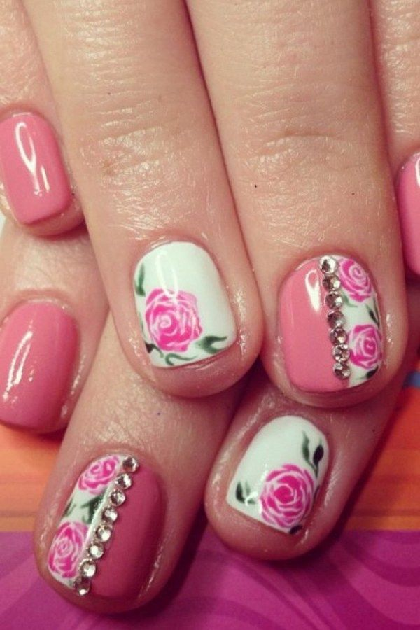 How To Paint A Flower On Your Nail With Art Designs