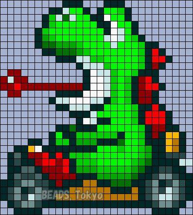 Yoshi Mario Kart Perler Bead Pattern Beadstokyo