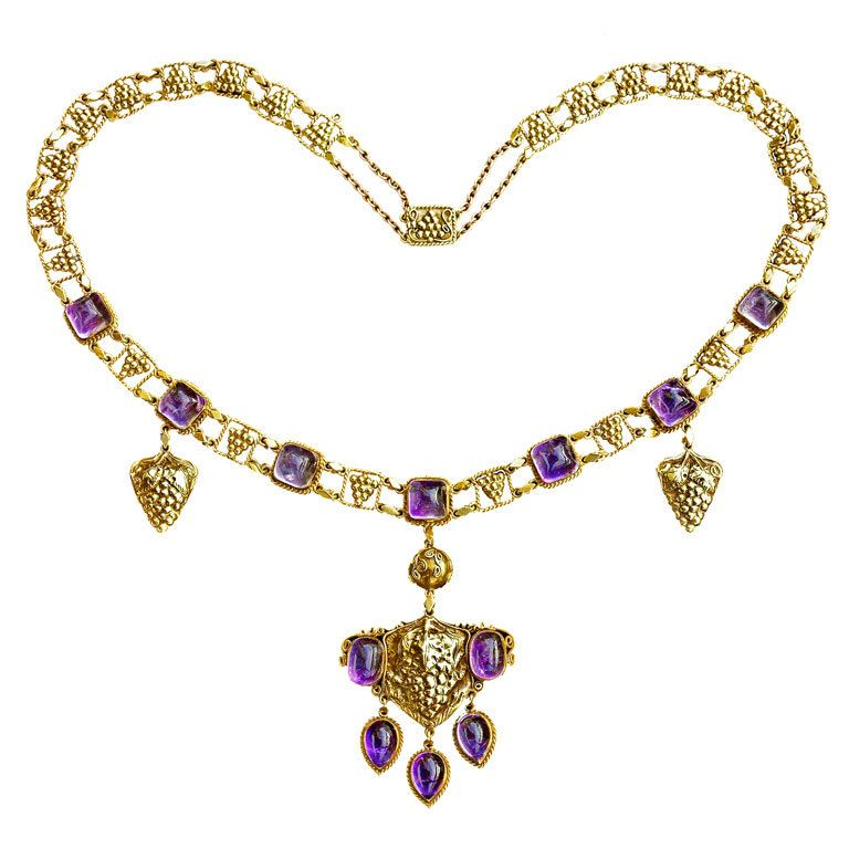 JOHN PAUL COOPER 'The Grapevine' A Superb Arts and Crafts Necklace For Sale at 1stdibs