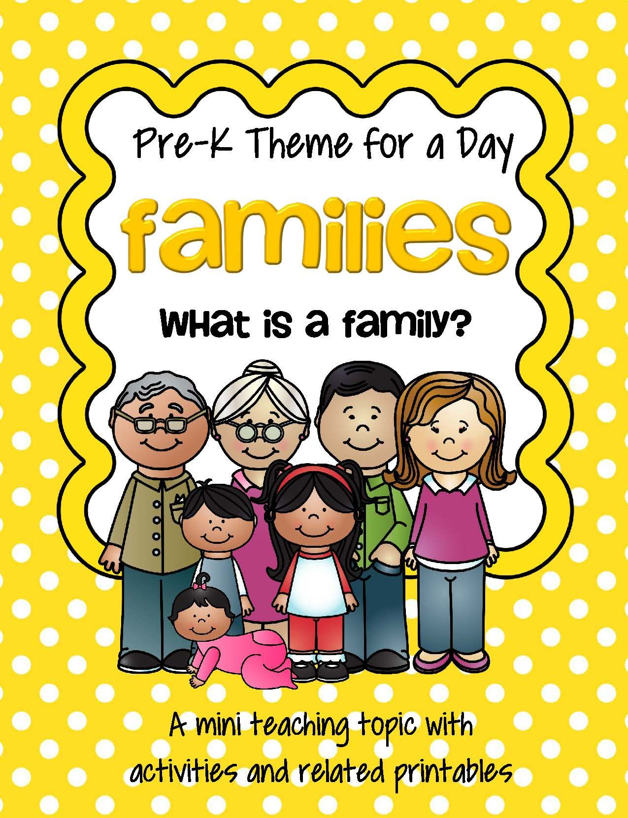Families 1 Theme Centers And Activities