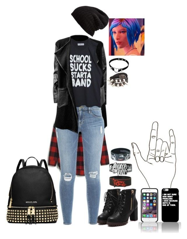 """Chloe Price ( From 'Life is Strange' ) causal"" by cherryblossompastel ❤ liked on Polyvore featuring Madewell, Frame Denim, Free People, MICHAEL Michael Kors and Punk"