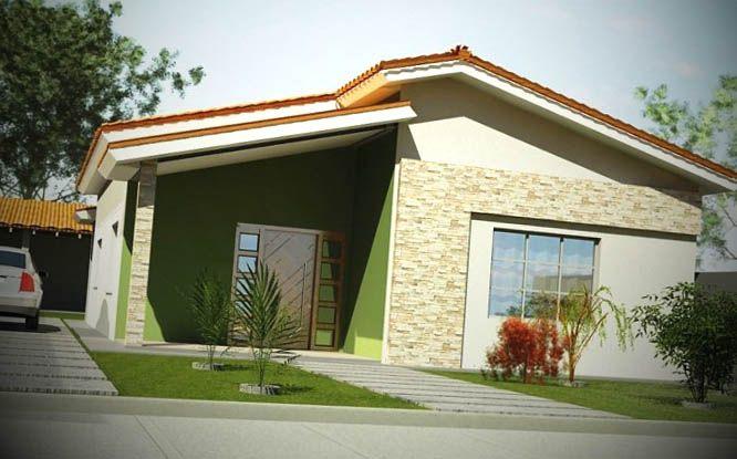 fachada casa pequena - Fachadas De Casas Pequeas
