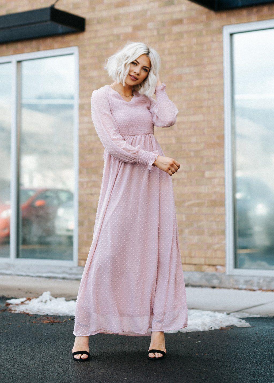 Madeleine Swiss Dot Maxi Dress Sweater Dress Fitted Dress Modest Dress Classy Dress Winter Style Pastel D Classy Dress Ladies Dress Design Womens Dresses [ 1433 x 1024 Pixel ]