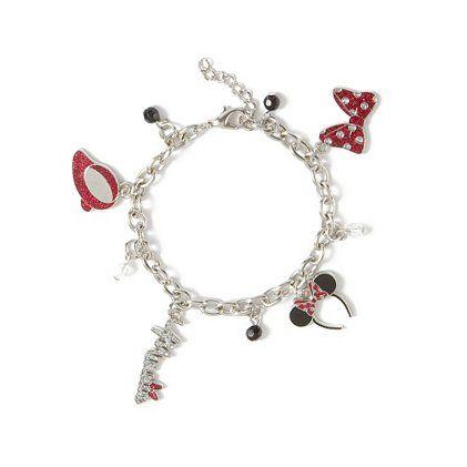 Minnie Mouse Glitter Charm Bracelet   Claire's $4.75