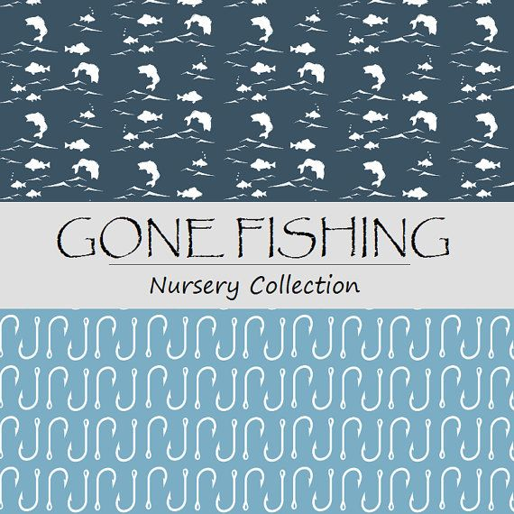 GONE FISHING Nursery Collection - Fishing Crib bedding ...