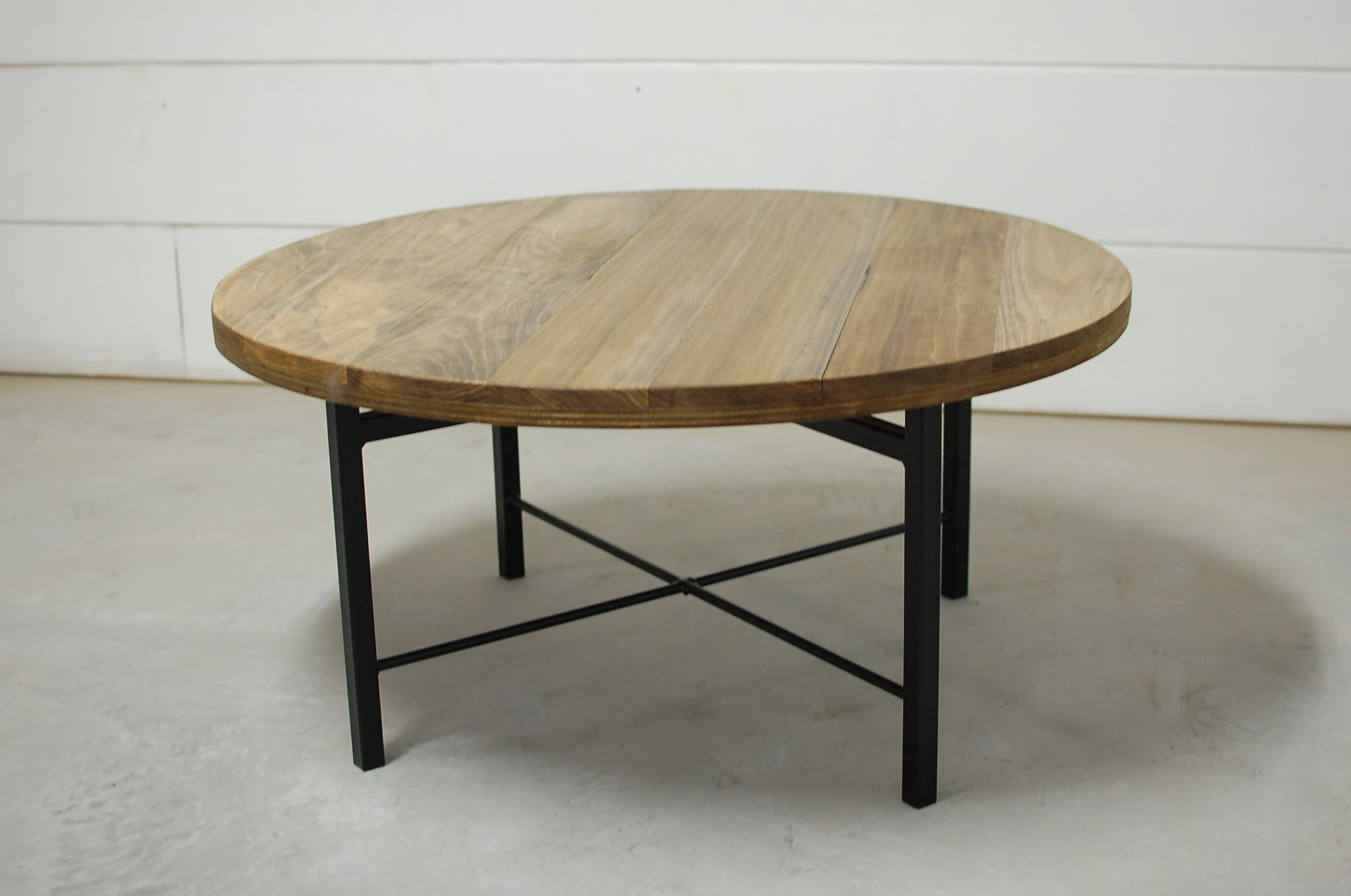 Wellington Round Industrial Coffee Table Southern Sunshine Coffee Table Round Industrial Coffee Table Natural Wood Furniture [ 1496 x 2256 Pixel ]