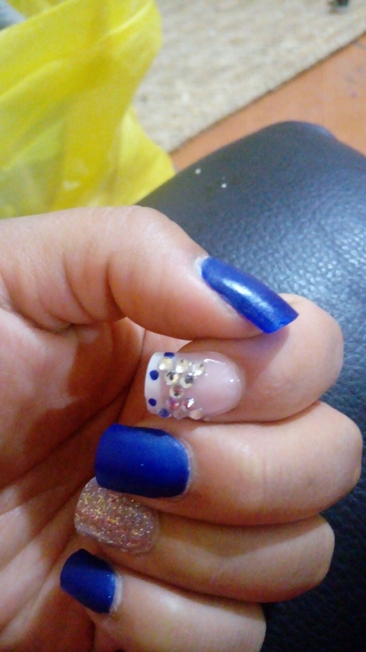 Famoso Mate Uñas Azules Ornamento - Ideas de Arte de Uñas ...