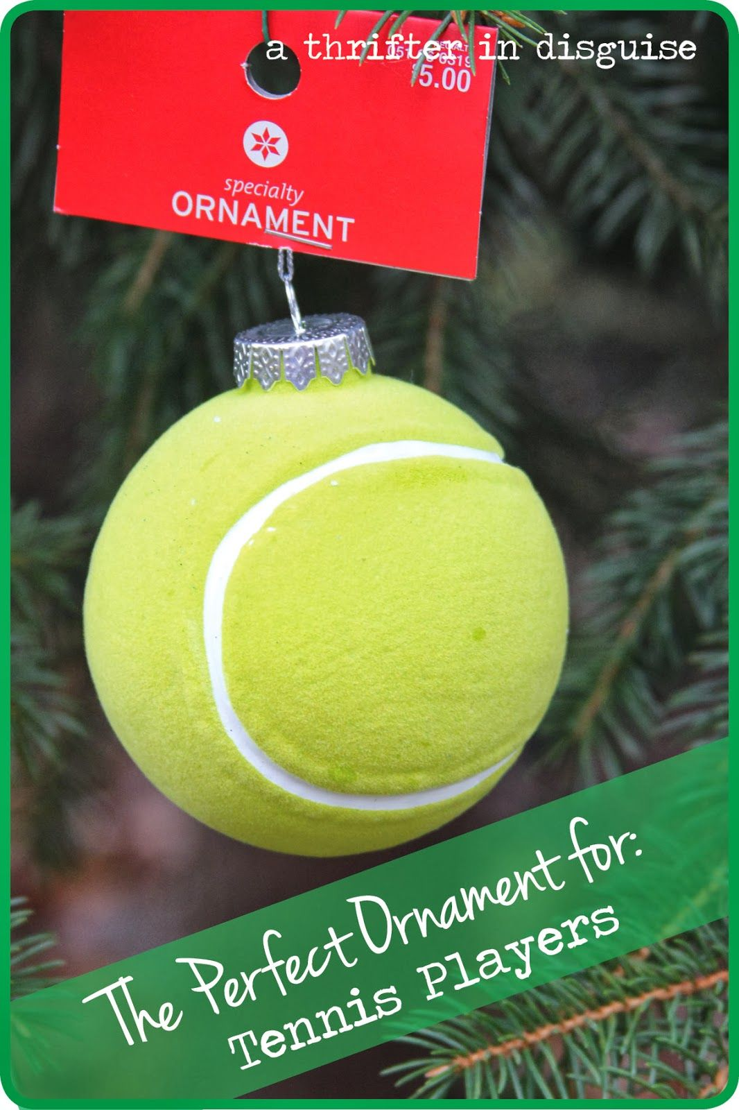 Tennis christmas ornaments - A Thrifter In Disguise Secret Santa Saturday Not Your Ordinary Ornaments