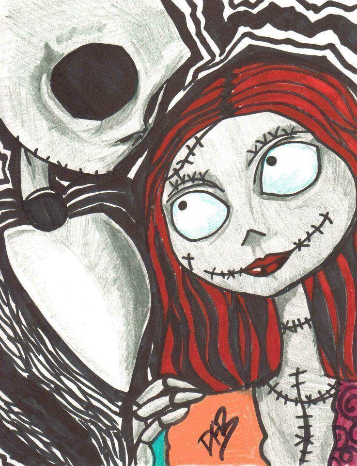 Like Jack And Sally Nightmare Before Christmas Drawings Sally Nightmare Before Christmas Tim Burton Art