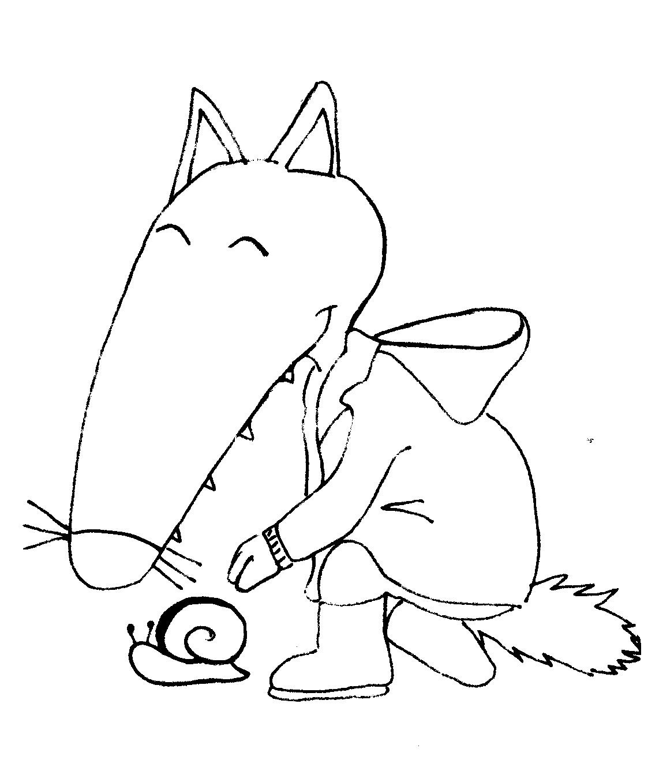 Coloriage loup, Loup, Dessin de loup