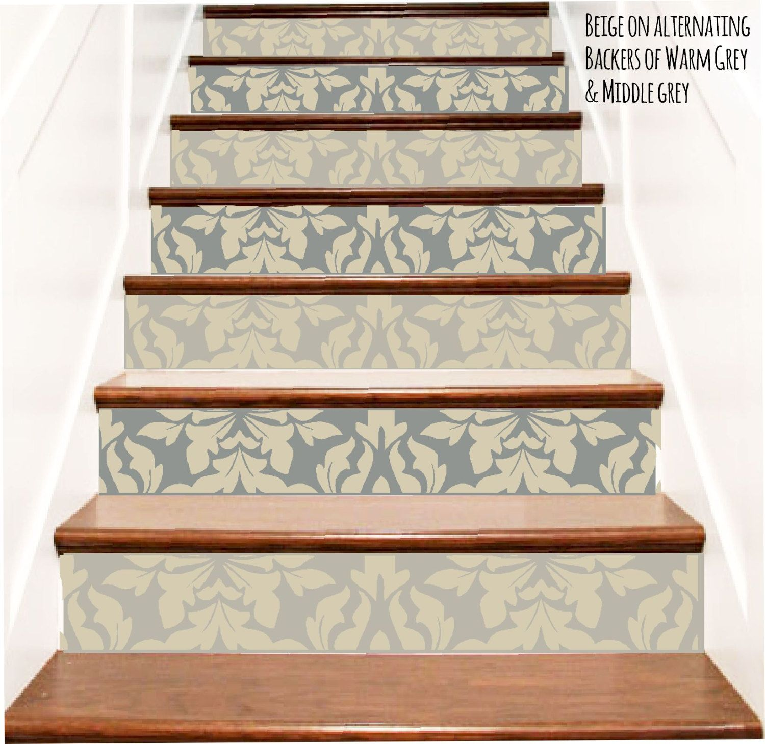 Decorative Brocade Vinyl Stair Riser Decals By Crowbabys On Etsy
