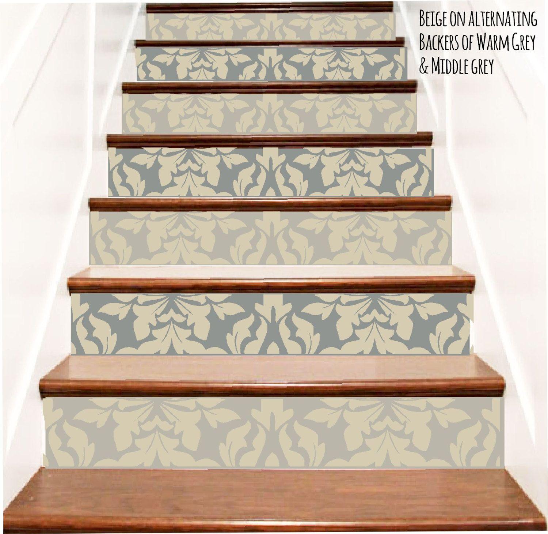 Decorative Brocade Vinyl Stair Decals Decor Steps Riser Stickers