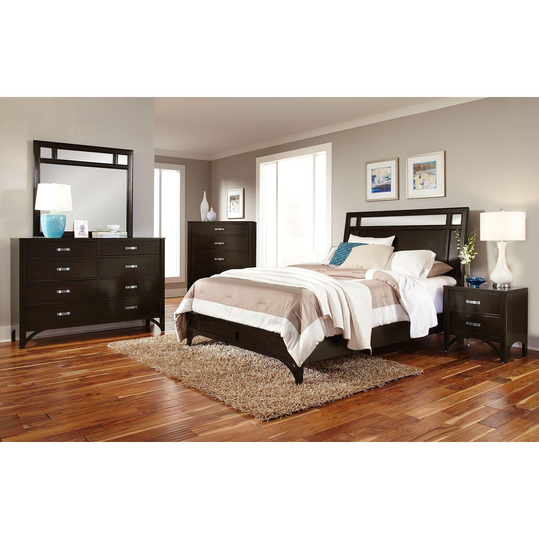 american signature furniture  maxwell bedroom queen bed