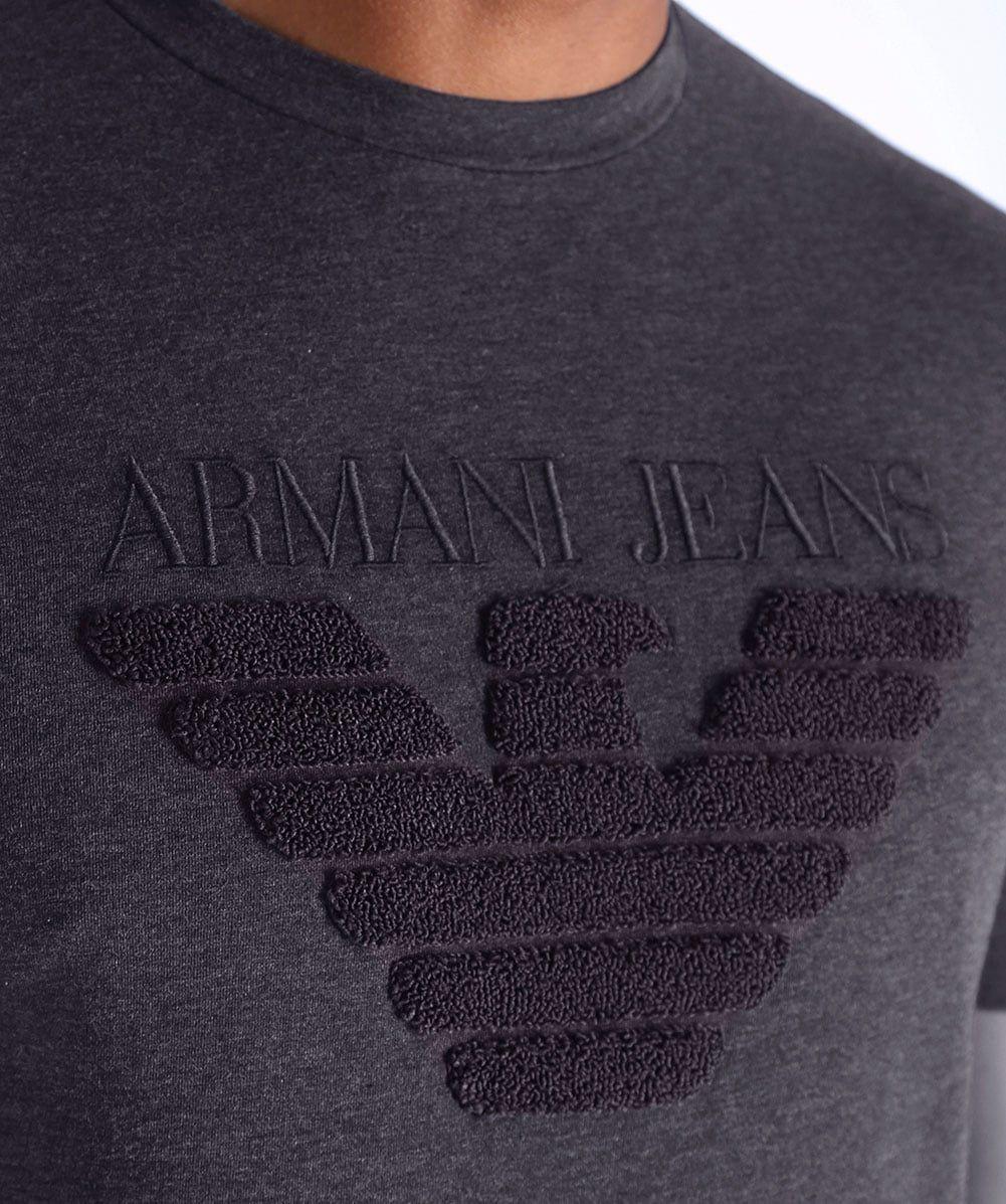Crew Neck Logo T-Shirt   G   Pinterest   Armani jeans a6e95bd440
