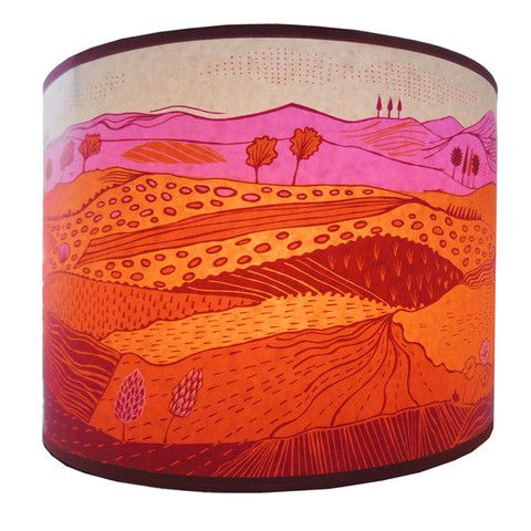 MadeJustSo - Lush Designs Medium Landscape Lampshade Pink