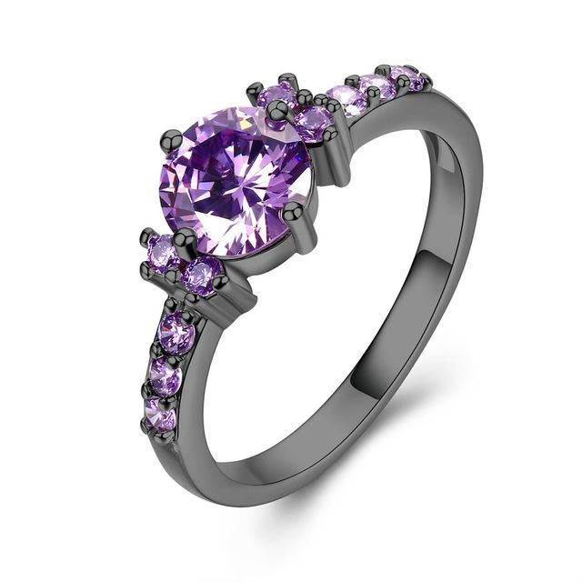 Purple Aaa Zirconia Engagement Wedding Ring Nurdytrends