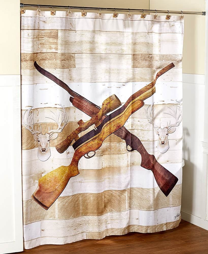 Born To Hunt Shower Curtain Rustic Shower Curtains Bathroom Collections Retro Home Decor