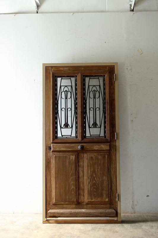 アイアン飾り玄関ドア フランス アンティークドア 自社輸入 販売 Boncote アンティーク ドア フランスアンティーク アンティーク