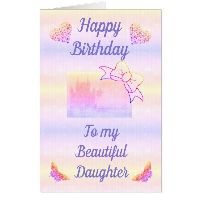 Big Giant Stylish Personalised Birthday Card Zazzle Com Custom Holiday Card Personalized Birthday Birthday Cards