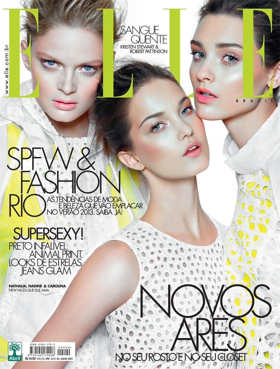 Nadine Ponce, Carolina Thaler & Natalia Oliveira by Gui Paganini for Elle Brazil July 2012