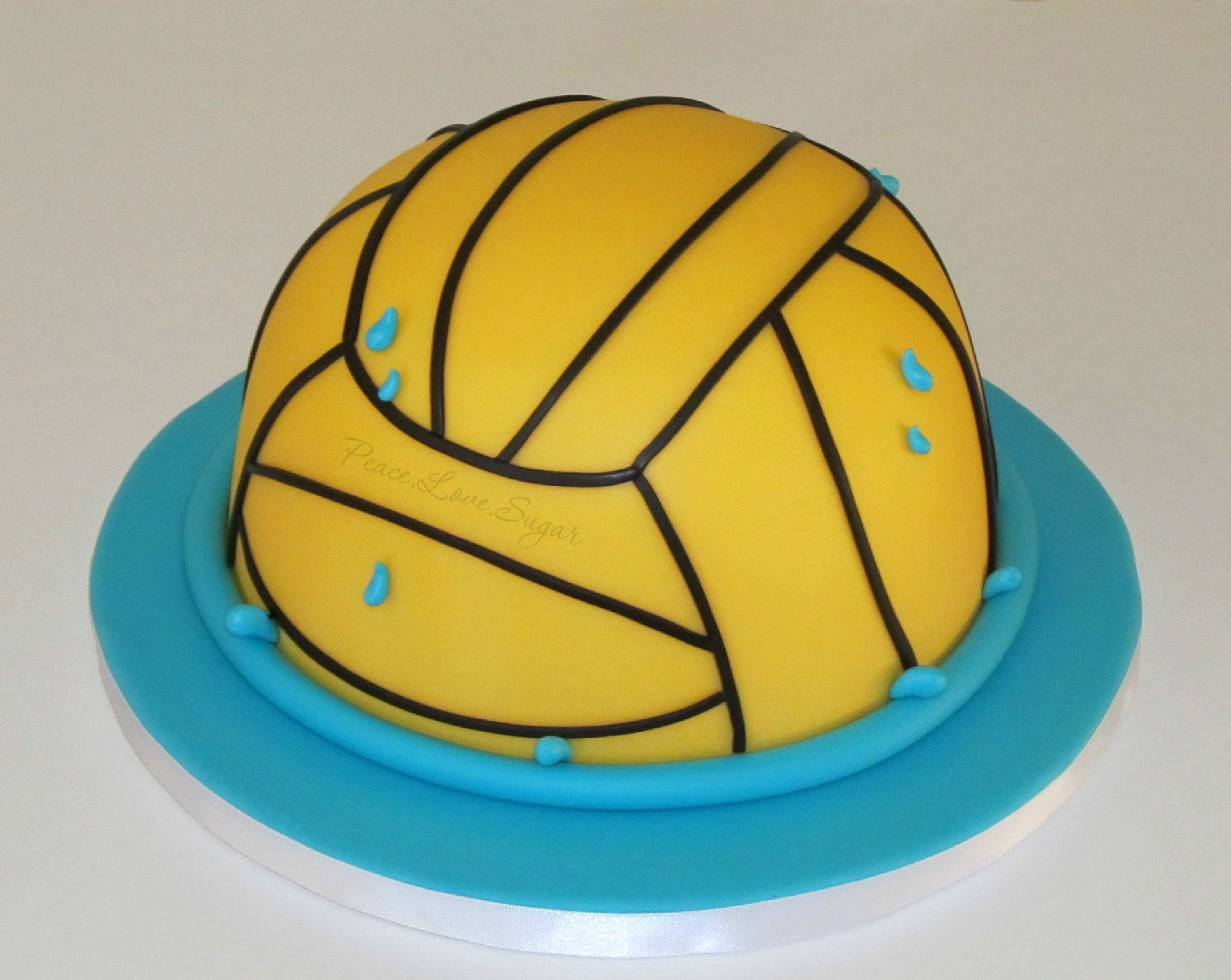 Water Polo Ball Cake Peace Love Sugar Https Www Facebook Com Pages Peacelovesugar 107504169339809 Water Polo Graduation Cakes Cake