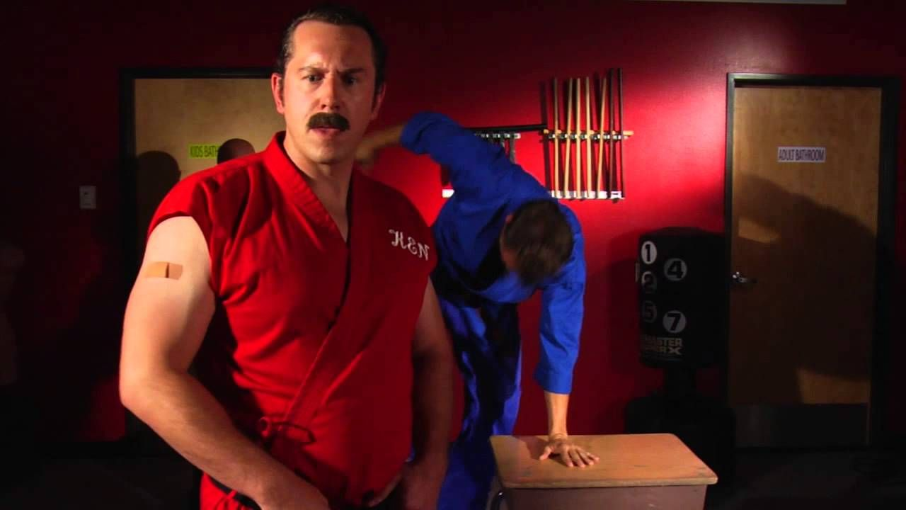 Enter the dojo how to break a brick with your face