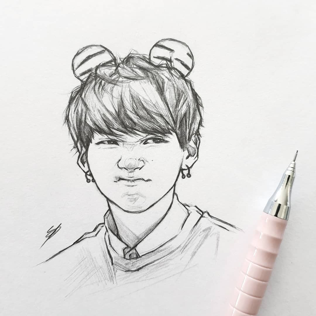 Shooky Dough Grr S Bts Btsfanart Fanart Yoongi Art Drawing