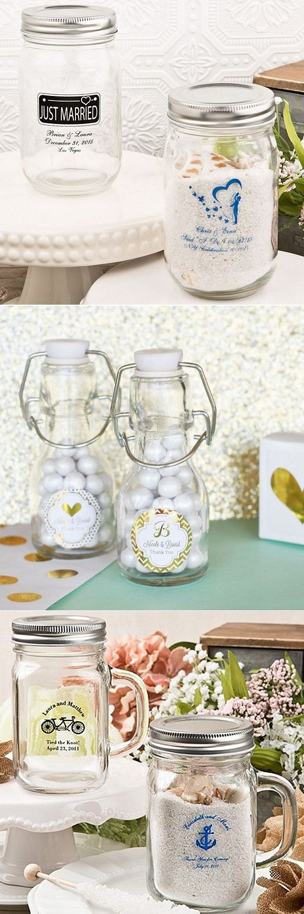 Perfect for DIY wedding favors, uniquely shaped and rustic mason ...