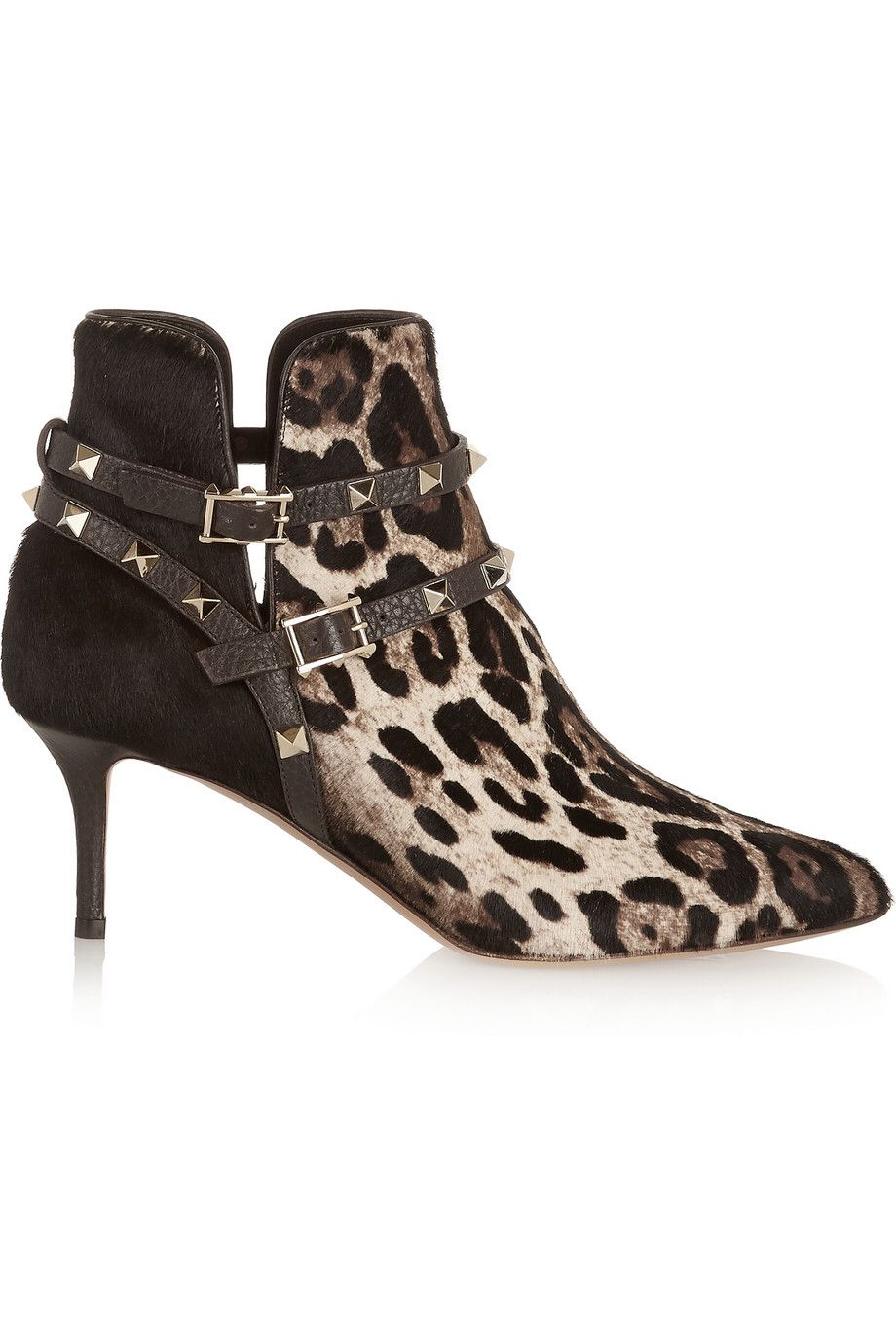 Shop on-sale Valentino Rockstud leopard-print calf hair ankle boots. Browse  other discount designer Boots & more on The Most Fashionable Fashion Outlet,  ...