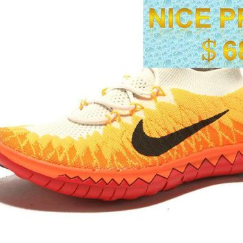 new styles 48efd 69219 2018 Newest WMNS Nike Free 30 Flyknit Laser Orange Volt Black Crimson  sneaker