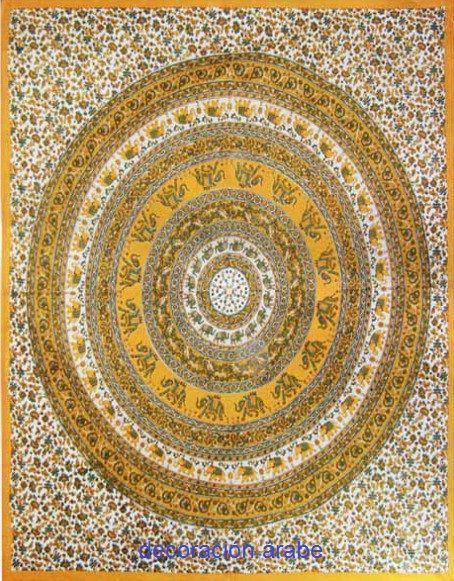 Tela india o colcha rueda de ganesha decoraci n rabe - Comprar decoracion arabe ...