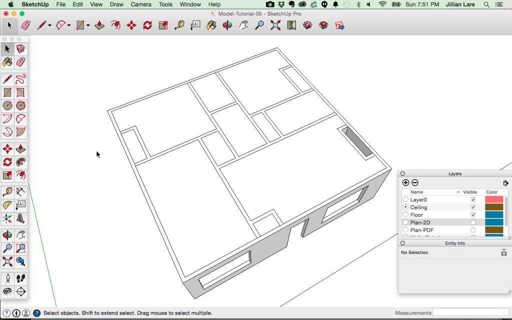 Draw A 3d House Model In Sketchup From A Floor Plan Floor Plans How To Plan House