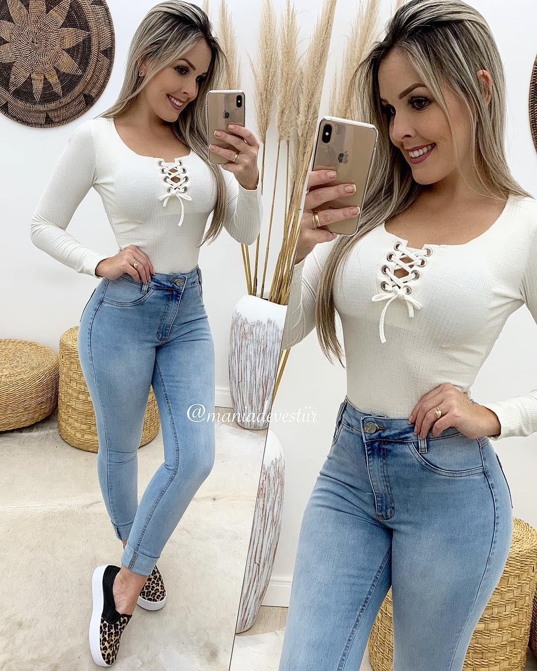 """Mania De Vestir on Instagram """"Body R$ 59,90 Calça R$ 99,90 🛒 Site para compras 👇🏻 www maniadevestir com br Dúvidas SITE (49) 988195646 📍 Lojas físicas 👇🏻 Dúvidas…"""" is part of Womens fashion jeans - 3,052 Likes, 10 Comments  Mania De Vestir (@maniadevestiir) on Instagram """"Body R$ 59,90 Calça R$ 99,90 🛒 Site para compras 👇🏻 www maniadevestir com br Dúvidas SITE (49)…"""""""